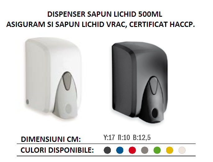 DISPENSER SAPUN LICHID 500ml