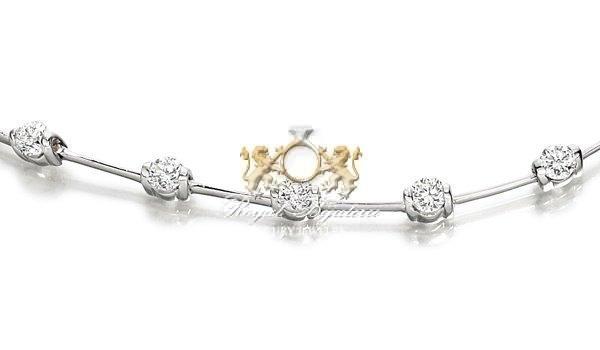 cumpără Bratara din aur alb 18 carate, model Dorina