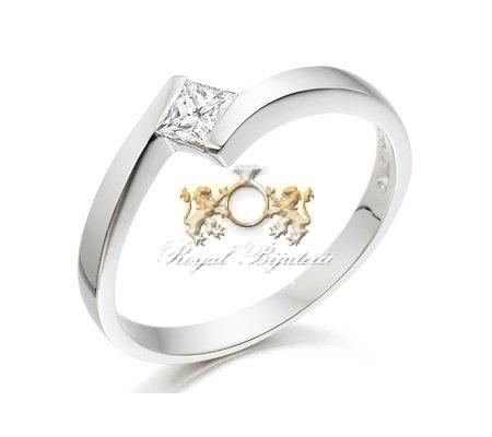 cumpără Inel de logodna din aur alb 18ct pentru femei