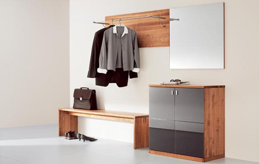 Современная мебель в прихожую из дерева clipwood.ru.