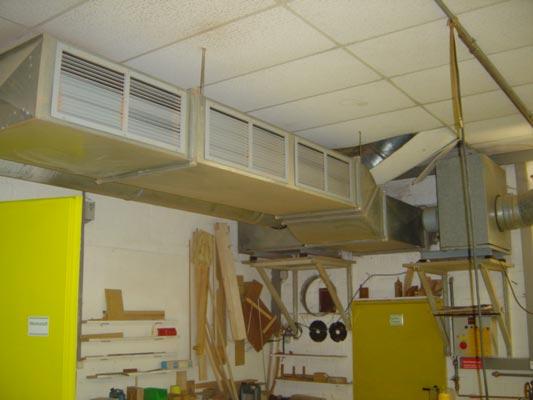 Filtre ve havalandırma  tesisleri