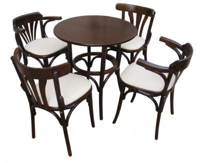 cumpără Set Masa Bistro cu 4 scaune lemn curbat