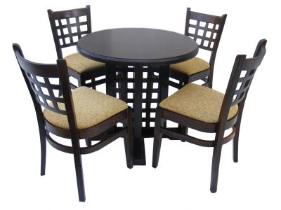 Set mobilier cafe bar : Masa si 4 scaune MD 170