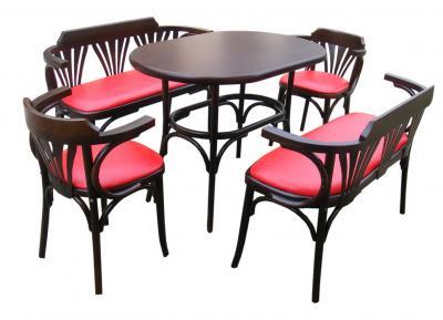 cumpără Set Masa si 2 Bancute Bistro + 2 scaune lemn curbat