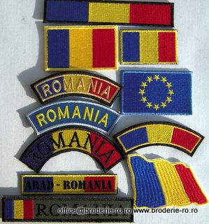 Broderie de finete- Emblema Drapel