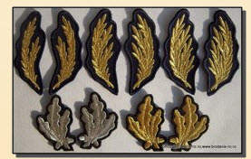 Grade militare brodate