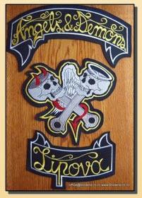 Embleme brodate pentru motociclisti