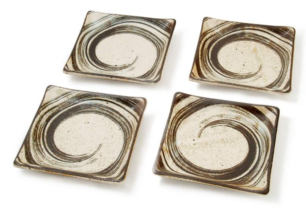 cumpără Brown Swirl - Set de patru platouri