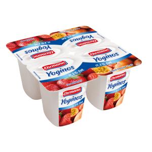 cumpără 4x100g Yoginos 0,1% iaurt cu fructe UHT