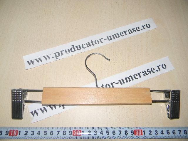cumpără Umerase lemn + clips metal cod F 505