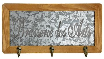 cumpără Cuier retro cu 3 carlige din lemn si metal