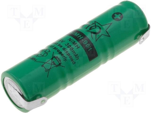 cumpără ACCU-100/3 - Baterie reîncărcabilă: Ni-MH; 3,6V; 300mAh; Ø14x50mm