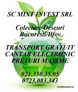 cumpără Mixt Invest Srl Bucuresti/Ilfov cumpar fier vechi
