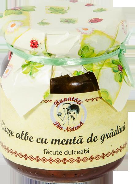 cumpără Dulceata de Cirese Albe cu Menta de Gradina