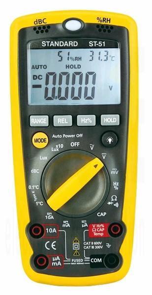 cumpără Multimetru ST-51, 6in1 (multimetru digital + detector de tensiune non-contact + temperatura + umiditate + nivel sunet + luminozitate)