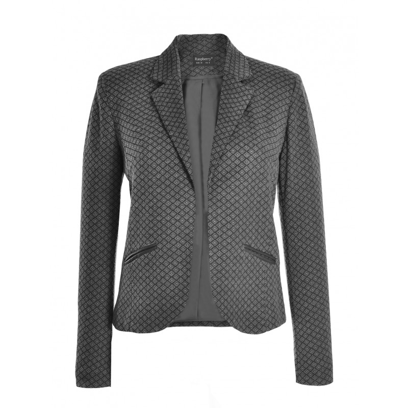 Sacou Black Printed Jacket