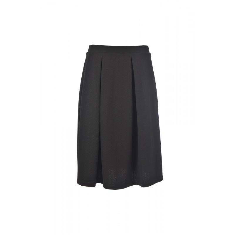 Fusta black skirt in folds