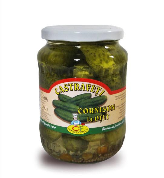 cumpără Castraveti cornison la otet 6-9 cm, Conservfruct