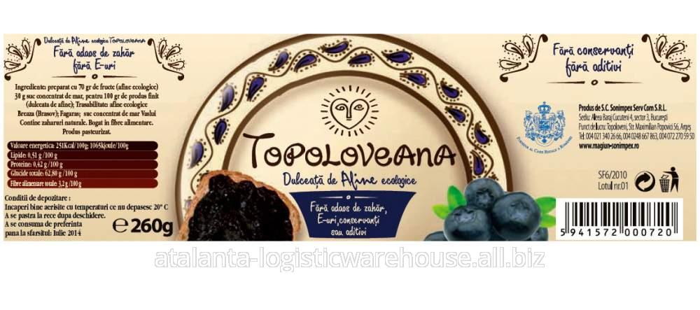 cumpără Dulceata de afine ecologica Topoloveni