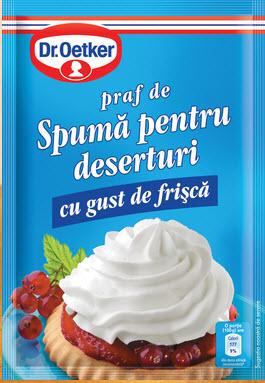 cumpără Frisca, Praf de spuma pentru deserturi - Dr. Oetker