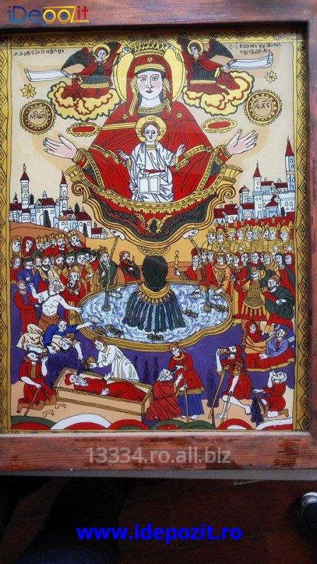 cumpără Icoana Sfanta Maria, traditional Romaneasca - Horezu
