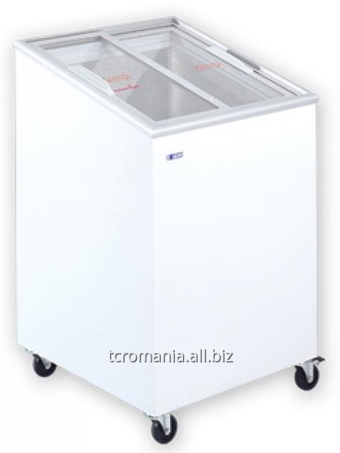 Ladă congelatoare cu capac înclinat și geamuri glisante drepte   UDD 100 SCEG
