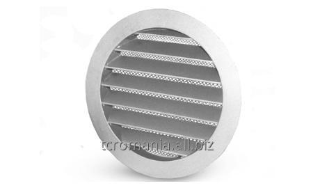Grile de exterior circulare cu jaluzele fixe şi plasă metalică
