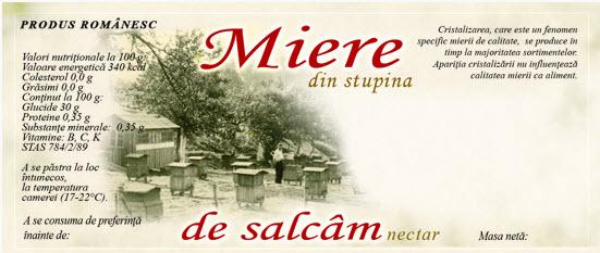 cumpără Eticheta Miere din stupina, de Salcam