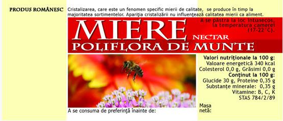 cumpără Etichete de miere Poliflora de munte