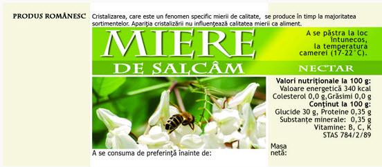 cumpără Etichete de miere de Salcam
