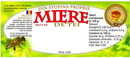 cumpără Eticheta miere de tei