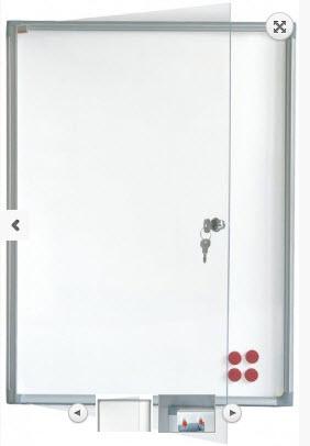 AVIZIER SECURIZAT, MAGNETIC, CU GEAM VERTICAL 510X680