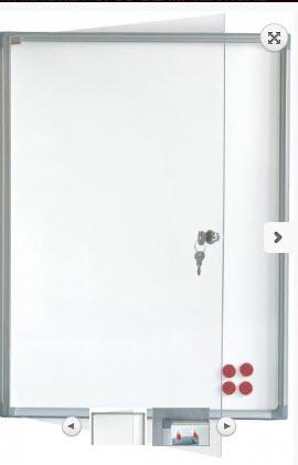 AVIZIER SECURIZAT, MAGNETIC, CU GEAM VERTICAL 730X680