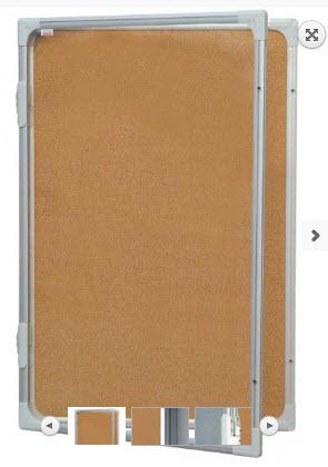 AVIZIER SECURIZAT CU GEAM VERTICAL(PLUTA) 600X900