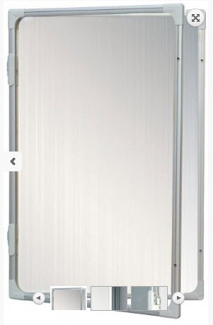 AVIZIER SECURIZAT CU GEAM VERTICAL( METALO-CERAMICA) 900X1200