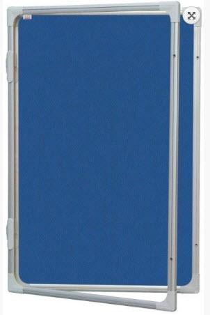 AVIZIER SECURIZAT CU GEAM VERTICAL(MATERIAL TEXTIL) 600X900