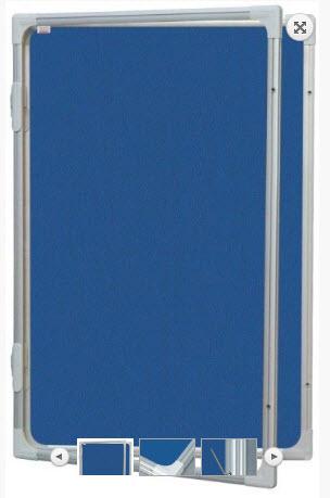 AVIZIER SECURIZAT CU GEAM VERTICAL( MATERIAL TEXTIL) 900X1200