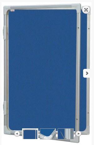 AVIZIER SECURIZAT CU GEAM VERTICAL (MATERIAL TEXTIL) 1200X1800