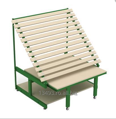 cumpără Raft gondola din lemn ptr legume fructe 130*120*133,5 cm