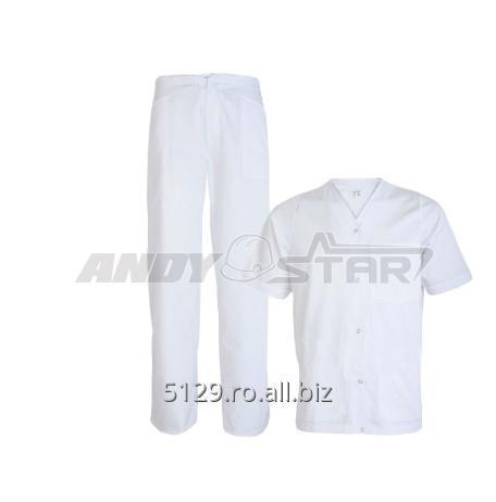 cumpără Costum Alb (Bluză cu capse și pantalon)