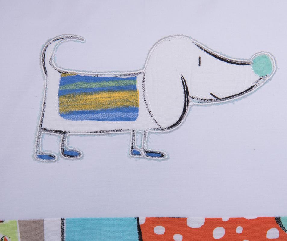 cumpără Lenjerie de pat pentru copii, din bumbac 100%, culoare bleu, model Momo (0-3 ani)