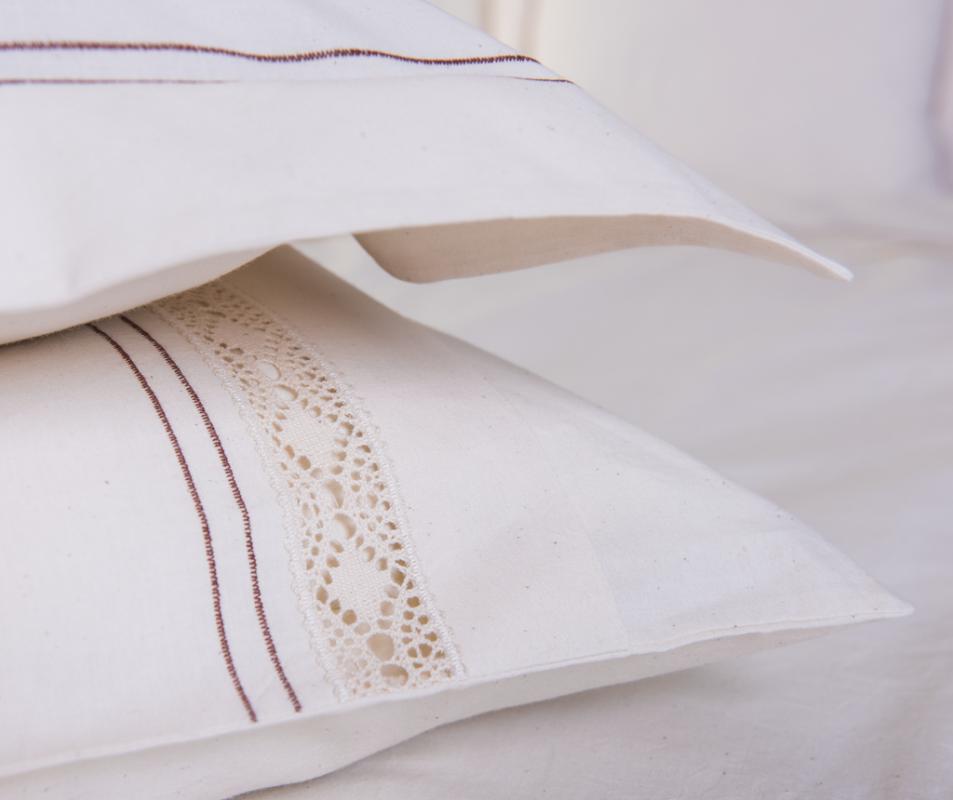 cumpără Lenjerie de pat pentru 1 persoana, bumbac 100%, natur, 180x220 cm - LNJ-05