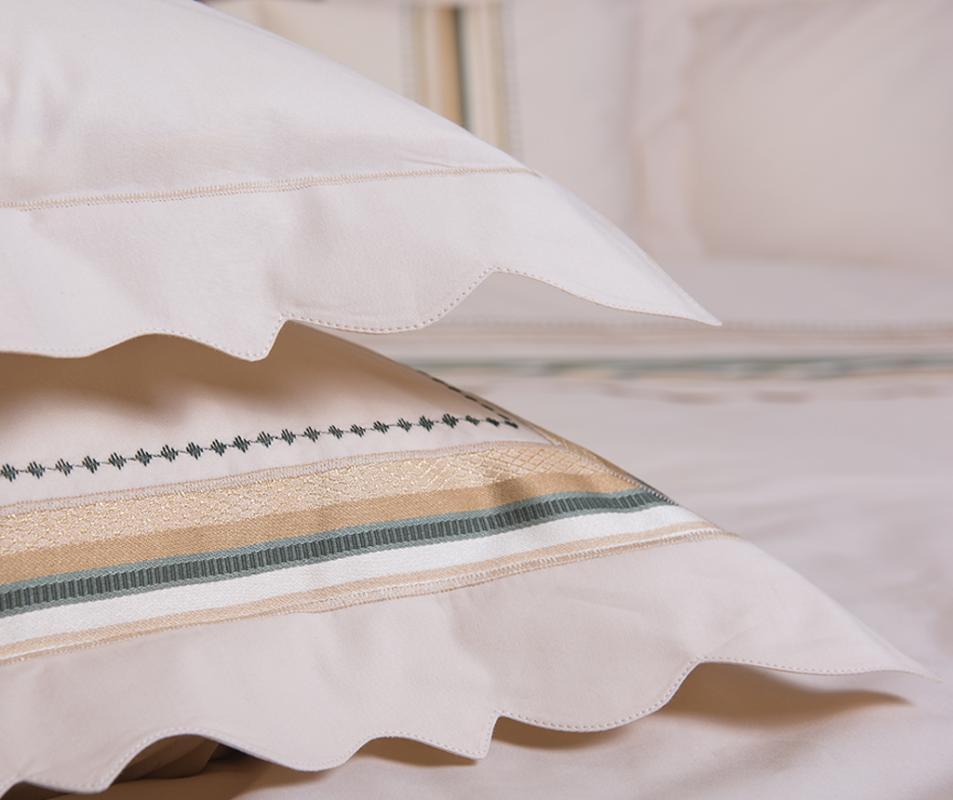 cumpără Lenjerie de pat de lux, realizata din bumbac egiptean, 240x240 cm, 6 piese - LNJ-12