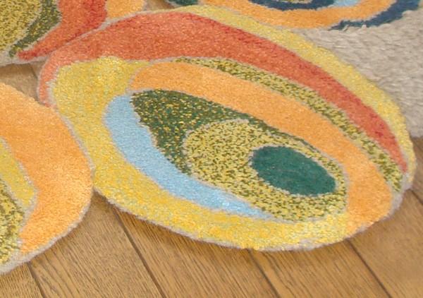 cumpără Covor de lana pentru camera copiilor țesut manual, multicolor - 63