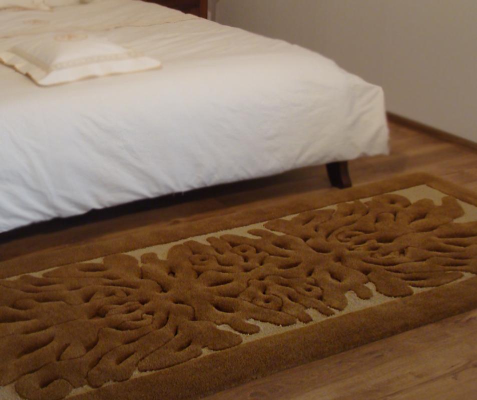 cumpără Traversă dormitor/hol din lana, culoare maro, model baroc - 59