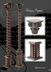 Stalpi colonial decorativ sculptat tip spirala