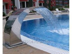 Cascada inox piscine.