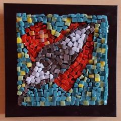 Tablou mozaic sticla - Inimioara 1