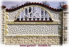 Gard placi prefabricate din beton armat