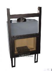 Wood powered fireplace insert